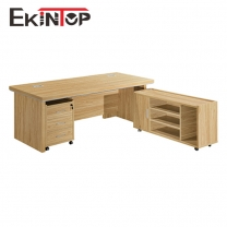 Large wooden office desk by office furniture manufacturer in Ekintop