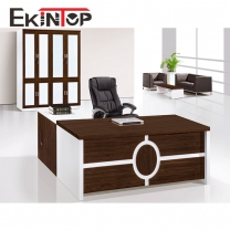 Office desk with shelves by office furniture manufacturer in Ekintop