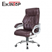 High quality brown leather swivel executive chair for office