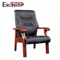 High quality office executive leather wood chair