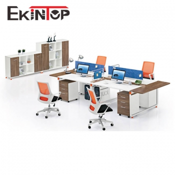 Modern office furniture four person office workstation