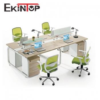 Modern office furniture 4 seater workstation
