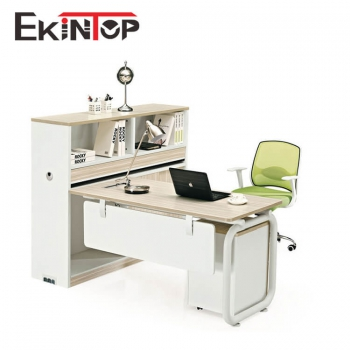 Small size computer table with locking drawers