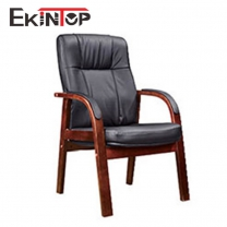 Leather office chair without wheels by China office manufacturers