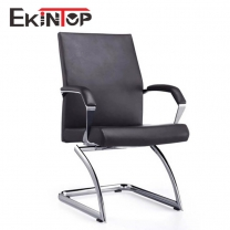 Small leather office chair by China office furniture manufacturer