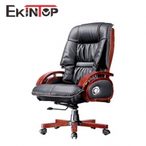 Leather rolling desk chair by China office manufacturers