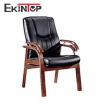 Leather office chair no wheels by China office manufacturers