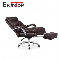 Special design leather reclining office chair by office manufactory