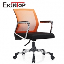 Compact price simple design orange office chair for office solution