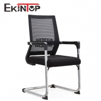 Black office chair no wheels by China office furniture manufacturers