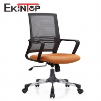 Black and white computer chair by China office furniture manufacturers