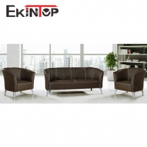 Leather sofa produced by Ekintop office manufacturer