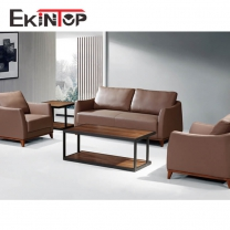 Modern leather sofa by office furniture manufacturer in Ekintop