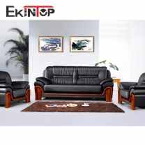 Simple wooden sofa set design by office furniture manufacturer in Ekintop