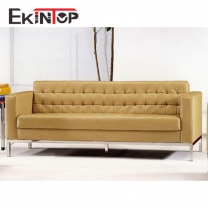 Leather chesterfield sofa by office furniture manufacturer in Ekintop