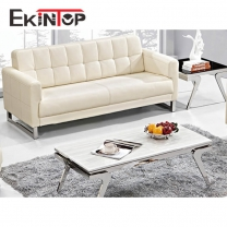 Leather sofa in china by office furniture manufacturer in Ekintop