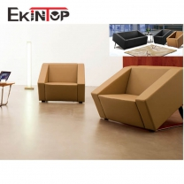 Vintage leather sofa by office furniture manufacturer in Ekintop