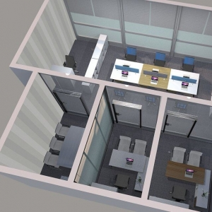 Free design and rendering of office furniture